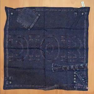 Dior Denim print scarf